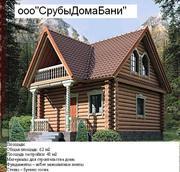 Деревянные срубы дома бани