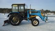 Трактор МТЗ-82 с куном и машина ГАЗ 33-07