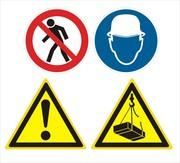 Изготовление знаков опасности в различных отраслях и видах деятельност