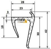 Профиль уплотнительный для будки (мерседес спринтер)