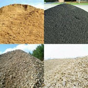 Песок,  щебень,  опгс (гравмасса),  асфальт